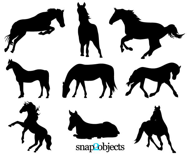 Free horse vector clipart image free library Free Horse Vector Silhouettes | Free Vectors | Horse silhouette ... image free library