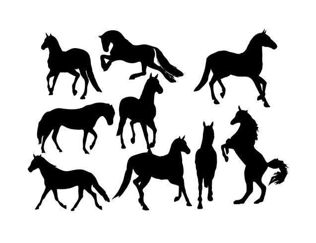 Free horse vector clipart picture black and white library Free Horses Silhouette Vector - Download Free Vectors, Clipart ... picture black and white library