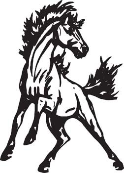 Free horse vector clipart. And graphics me