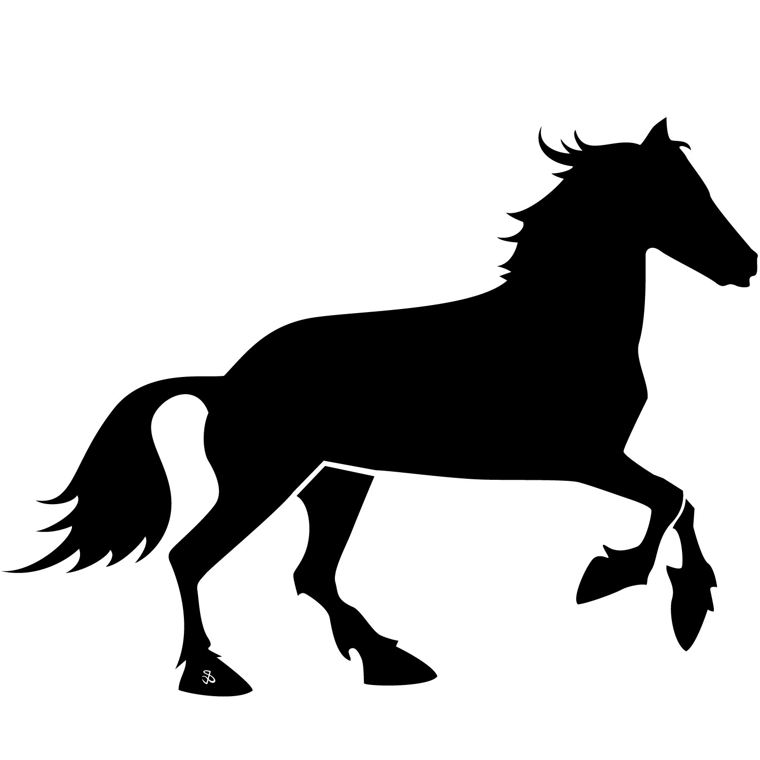 Download clip art on. Free horse vector clipart