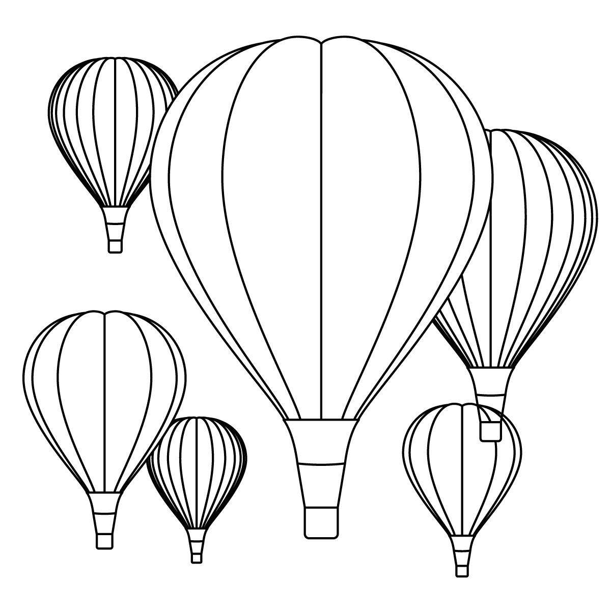 Hot air balloon clipart black and white picture transparent Hot Air Balloon Clipart Black And White   Clipart Panda - Free ... picture transparent