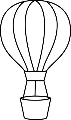 Free hot air balloon clipart black and white vector royalty free library Hot air balloon clipart black and white 3 » Clipart Station vector royalty free library