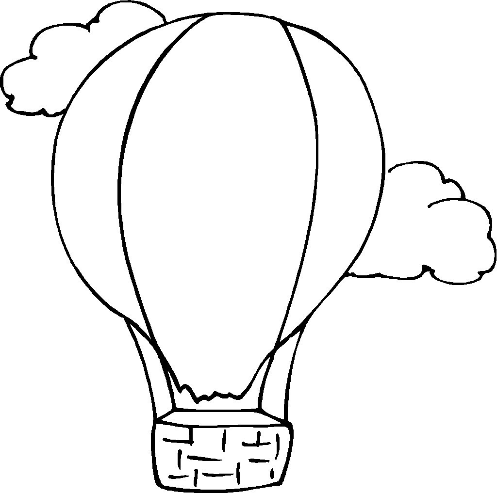 Free hot air balloon clipart black and white picture transparent Free Hot Air Balloon Outline, Download Free Clip Art, Free Clip Art ... picture transparent