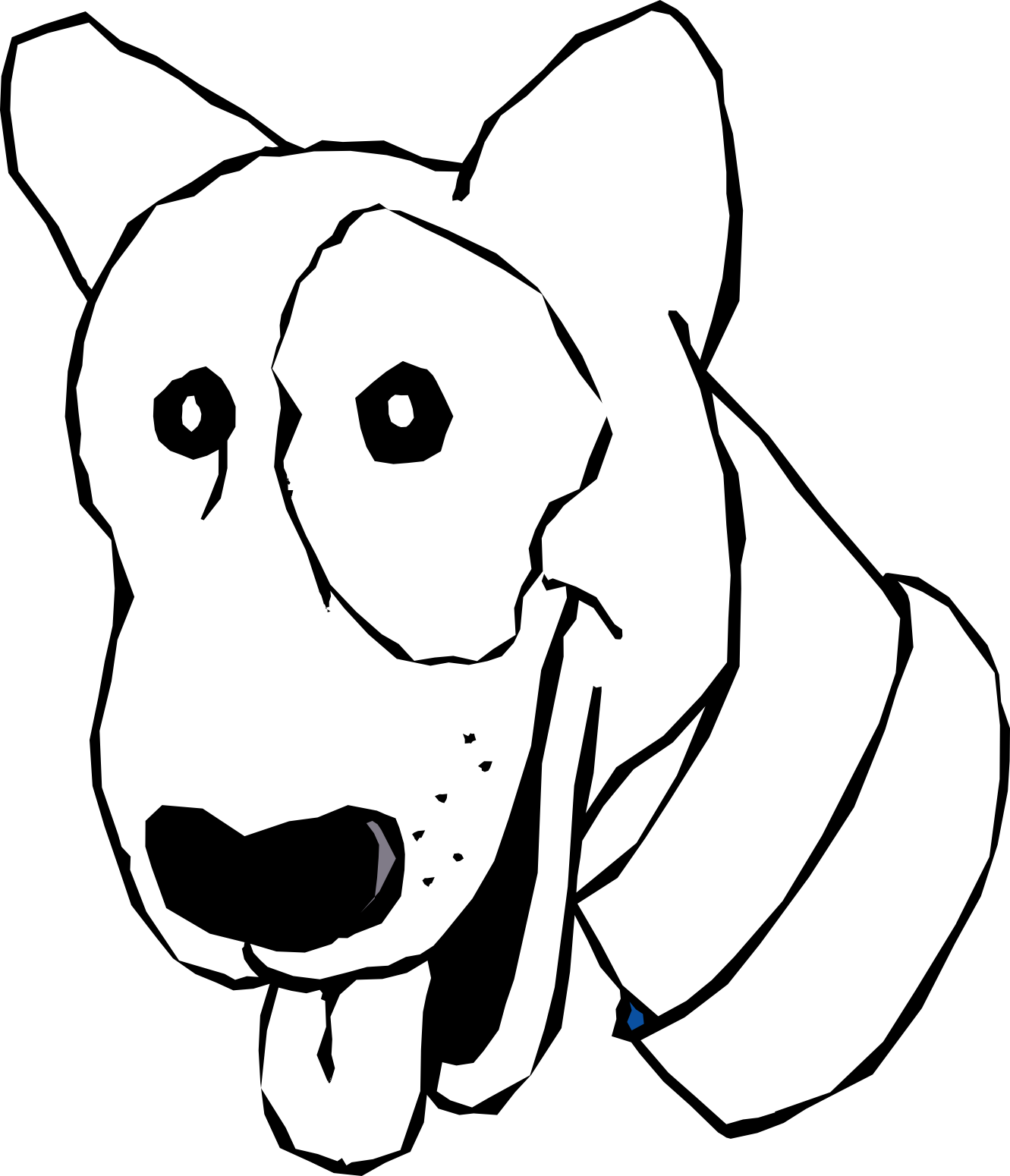 Free hound dog clipart jpg royalty free stock Free Black And White Dog Cartoon, Download Free Clip Art, Free Clip ... jpg royalty free stock