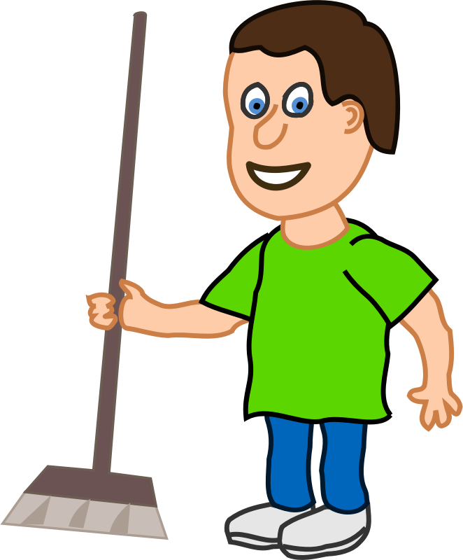 Free house cleaning clipart clip stock Boy Cleaning Clipart - Free Clipart clip stock