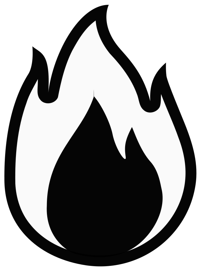 Free house fire clipart clipart black and white Free clip art fire - Cliparting.com clipart black and white