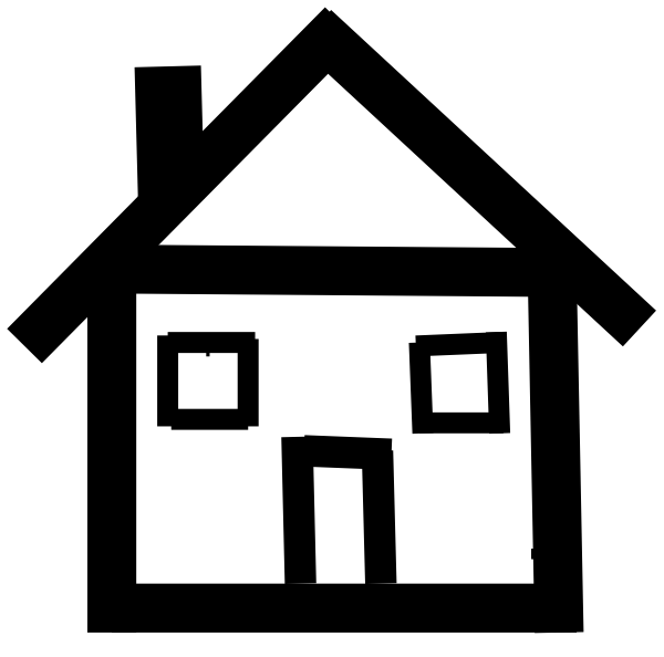 House painting clipart black and white graphic transparent Stick Figure House Clipart graphic transparent