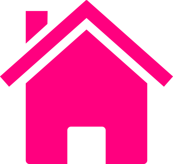 Free house logo clipart picture royalty free Pink House clip art - vector clip art online, royalty free ... picture royalty free
