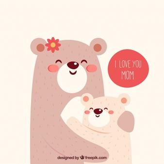 Free hug mom with mama bear clipart. Bears vectors photos and