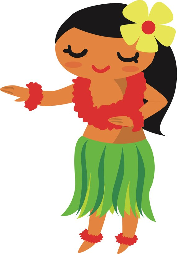 Free hula girl clipart banner black and white library Hula Girl SVG cut file | Products | Dancing clipart, Polynesian ... banner black and white library