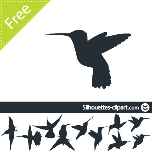 Free hummingbird silhouette clipart banner free Hummingbird Silhouette Clip Art Hummingbird silhouette clipart ... banner free