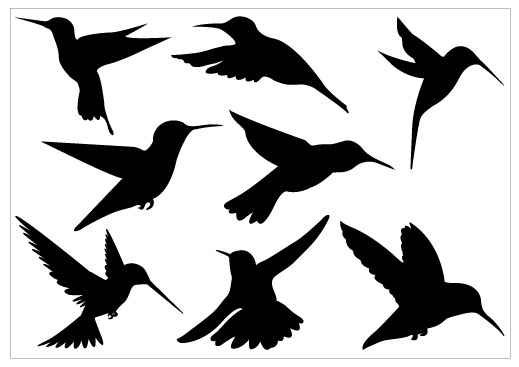Free hummingbird silhouette clipart. Drawing download clip art