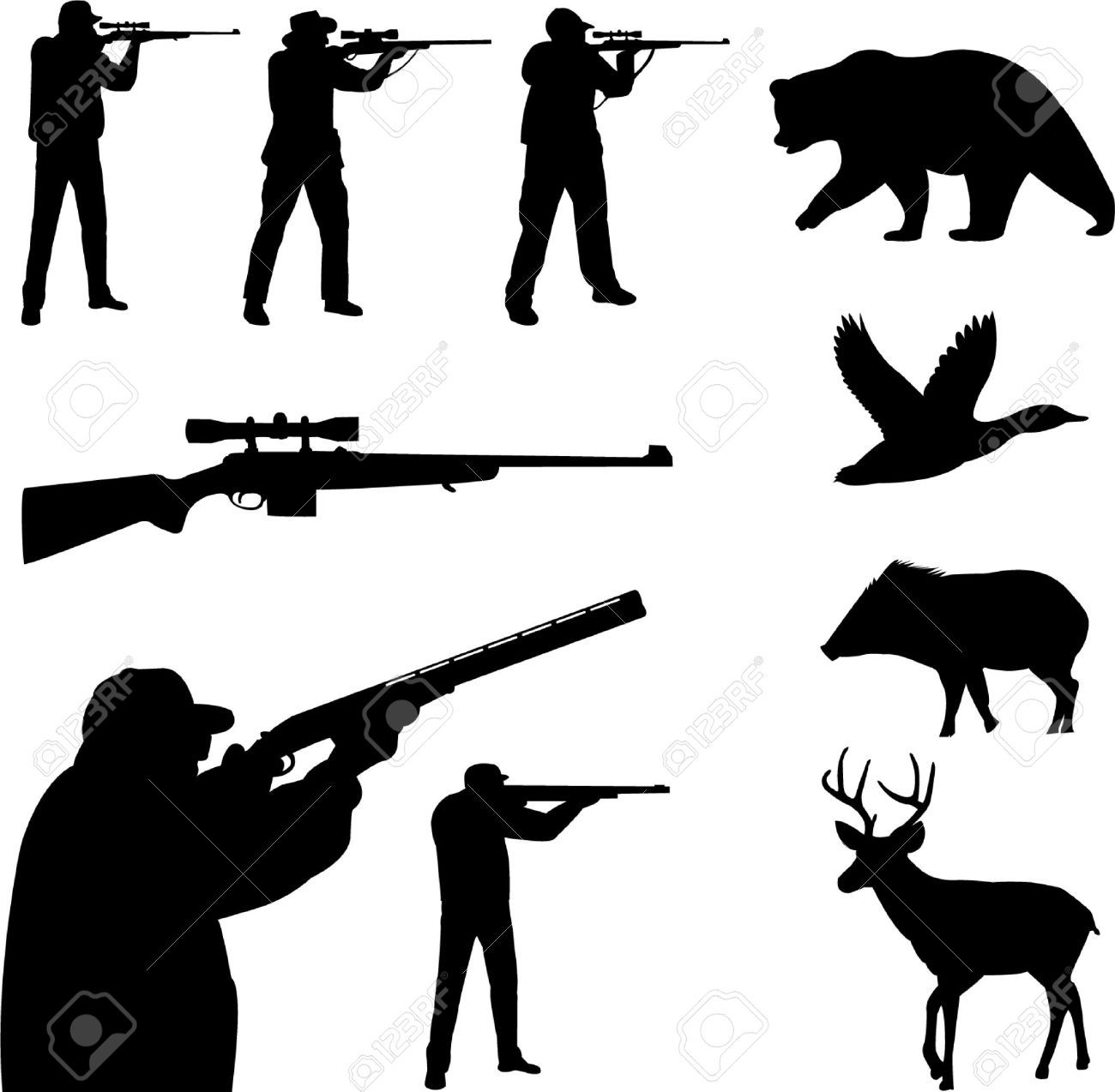 Free hunting clipart images. Deer cliparts stock vector