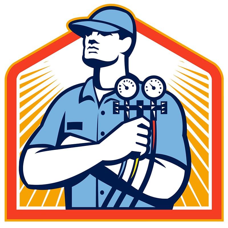 Hvac gauges clipart banner royalty free stock Free download | Man wearing blue cap illustration, Air conditioning ... banner royalty free stock