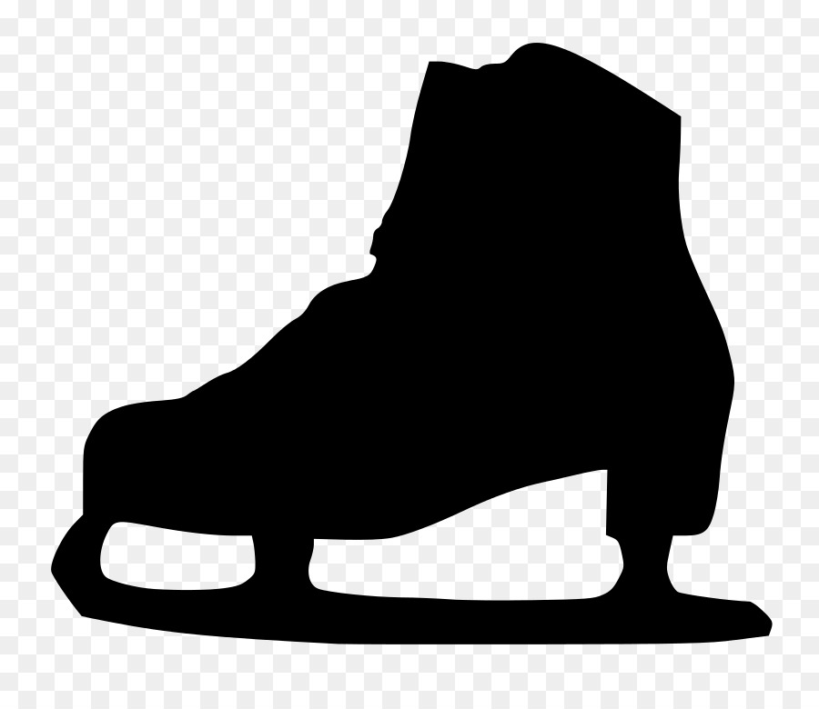 Free ice skater clipart black and white jpg free library Ice Background png download - 848*768 - Free Transparent Ice Skates ... jpg free library