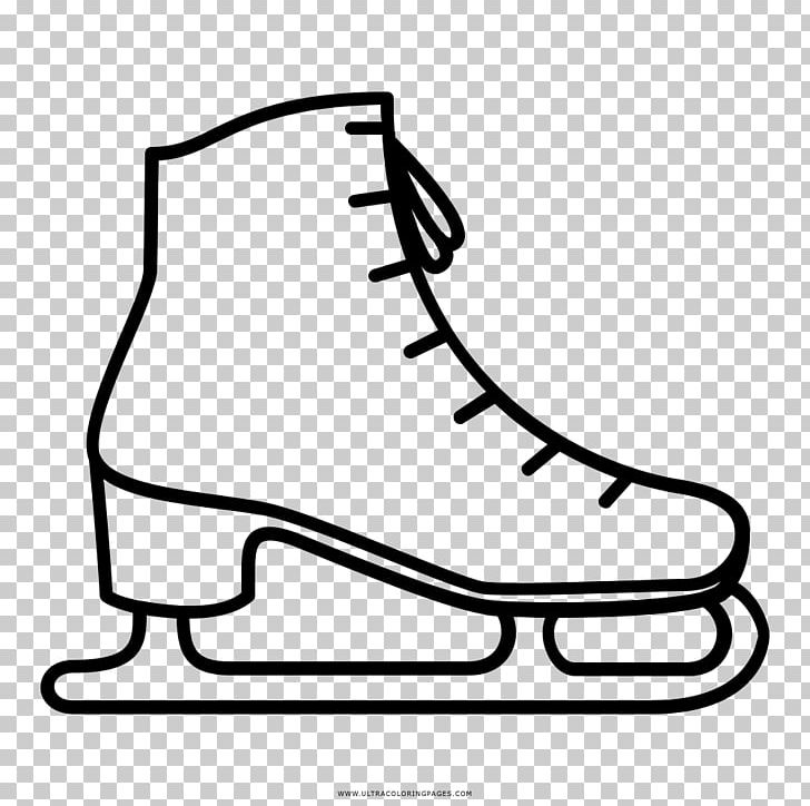 Free ice skater clipart black and white picture freeuse stock Ice Skates Ice Skating Patín Isketing PNG, Clipart, Art, Black ... picture freeuse stock