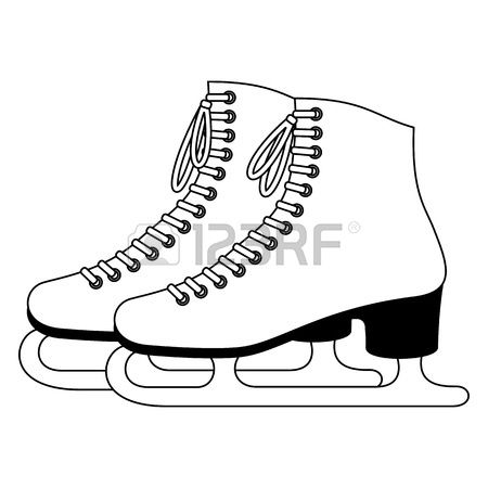 Free ice skater clipart black and white picture download Skating Stock Vector Illustration And Royalty Free Skating Clipart ... picture download