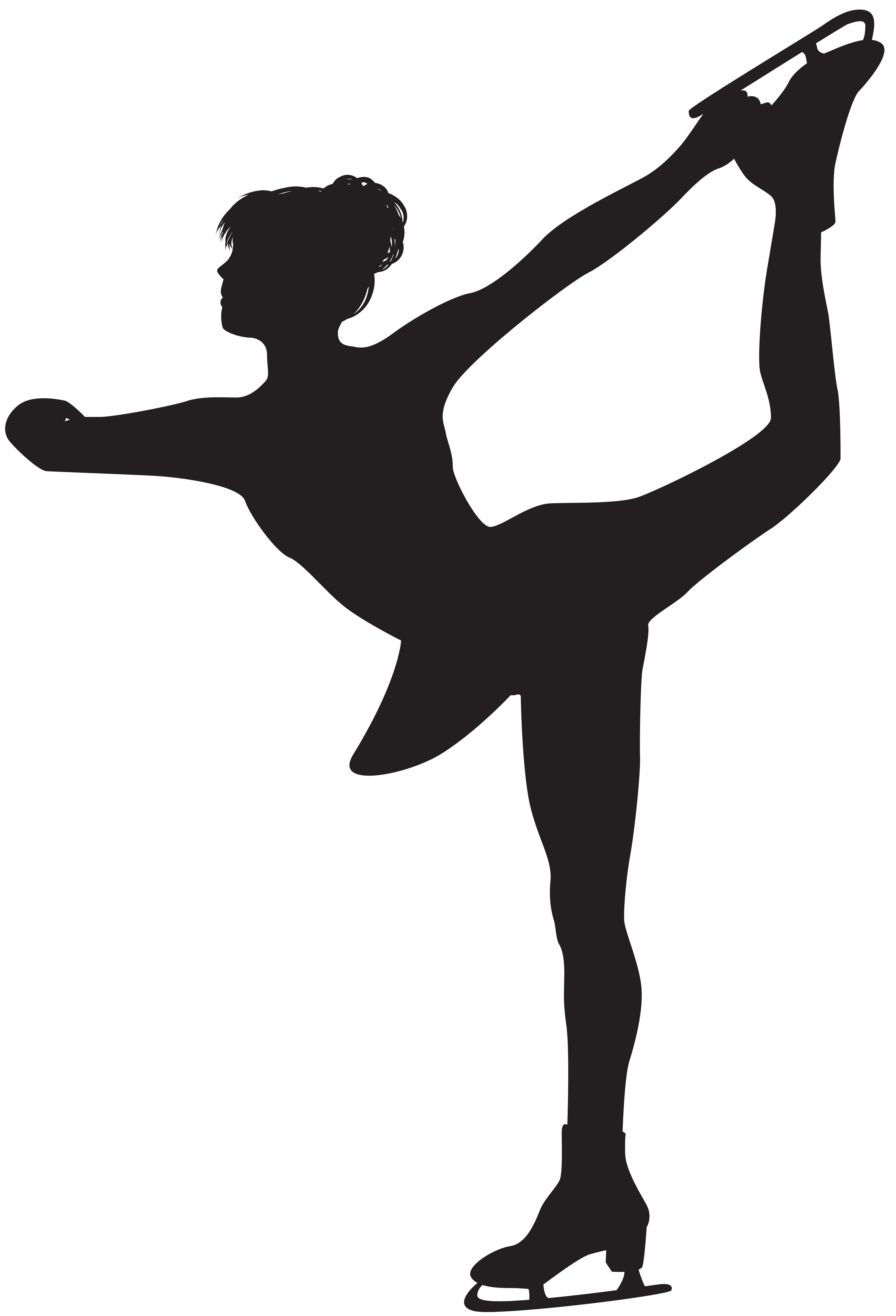 Free ice skater clipart black and white banner stock Ice skater silhouettes clipart images gallery for free download ... banner stock
