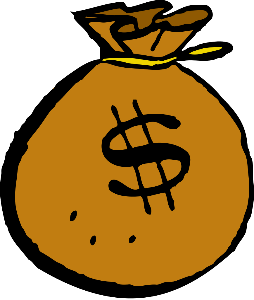 Free images of money clipart jpg library library File:Mcol money bag.svg - Wikimedia Commons jpg library library