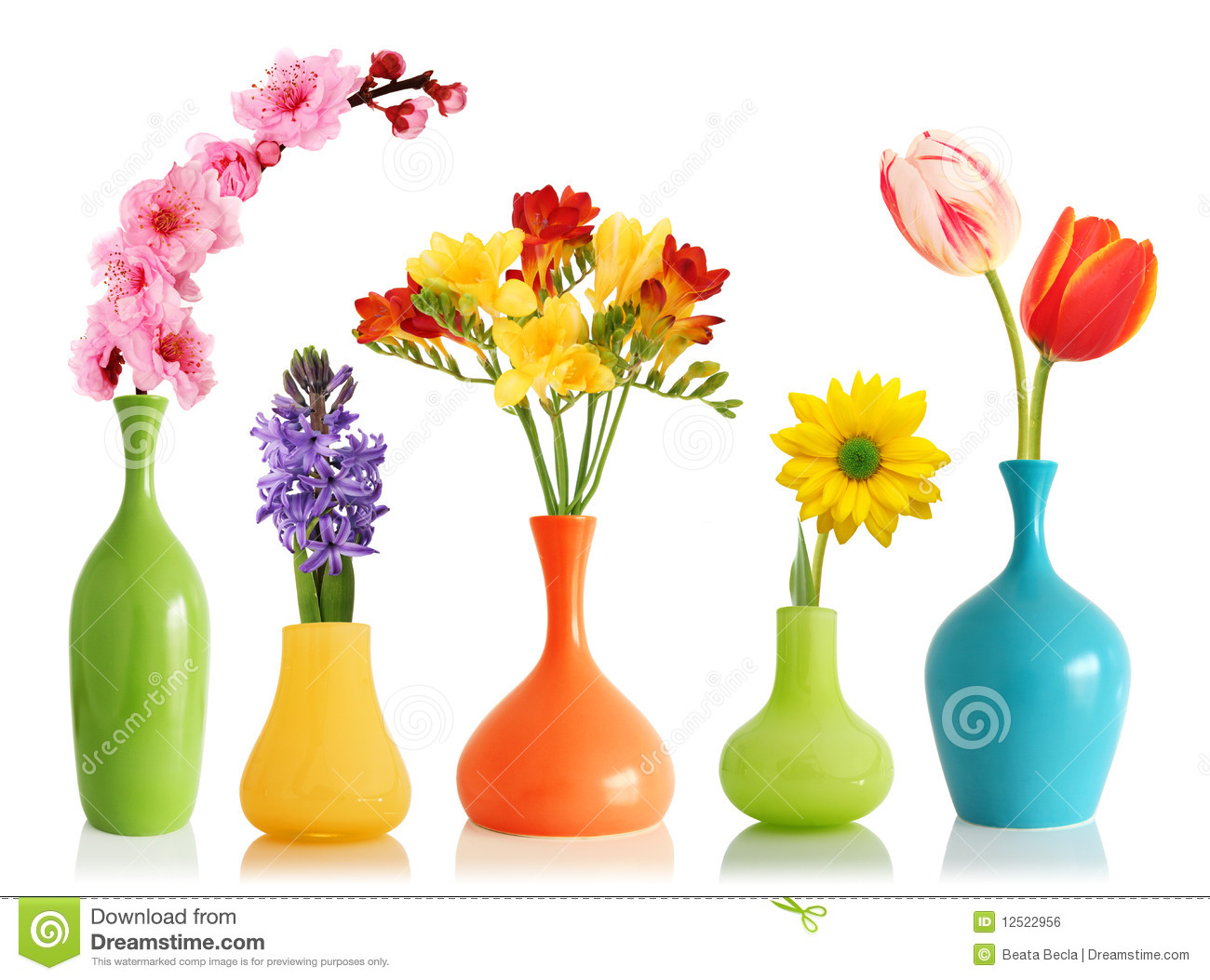 Free images spring flowers jpg freeuse download Spring Flowers In Vases Royalty Free Stock Image - Image: 12522956 jpg freeuse download