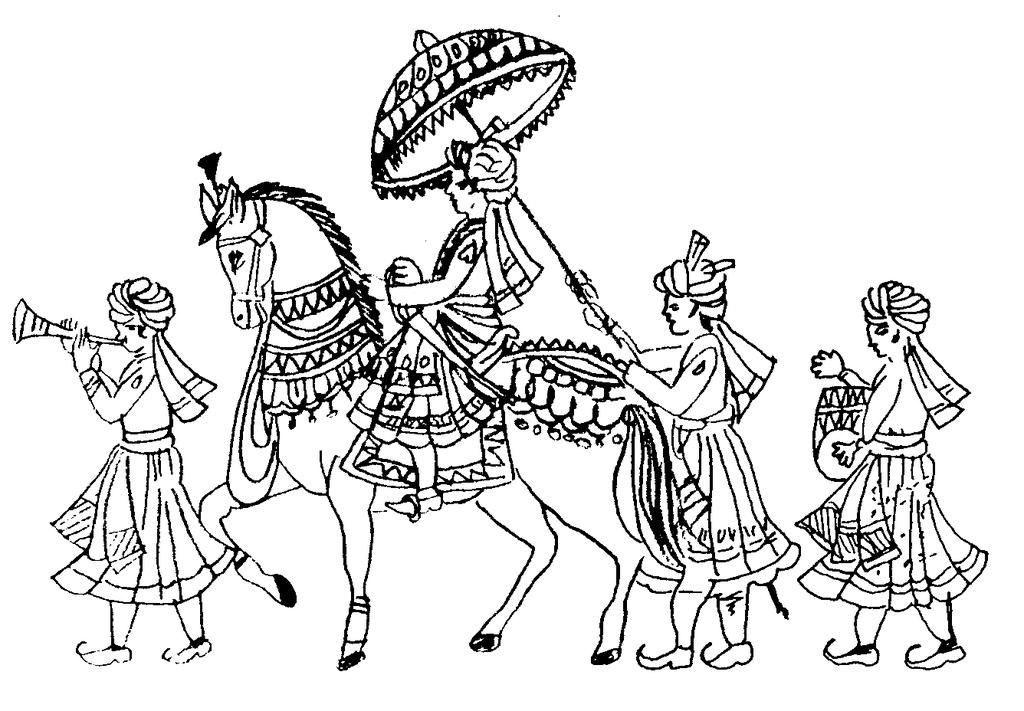 Indian wedding images clipart picture black and white download Indian Wedding Clipart And Rafter Diwali - Clipart1001 - Free Cliparts picture black and white download