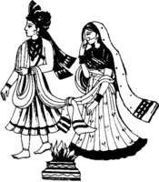 Free indian wedding clipart black and white image transparent download Indian wedding clipart black and white free download 2 » Clipart Portal image transparent download