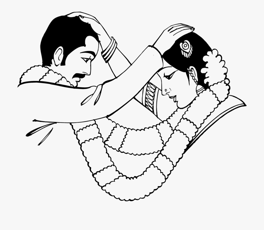 Indian wedding images clipart jpg transparent library Indian Clipart Marriage - Indian Wedding Clipart Black And White ... jpg transparent library