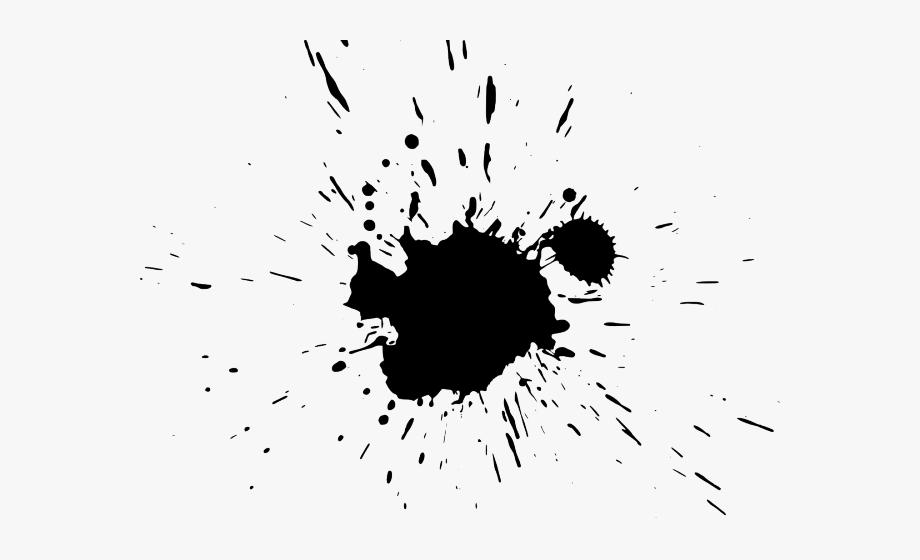 Free ink splash clipart. Black paint splatter transparent