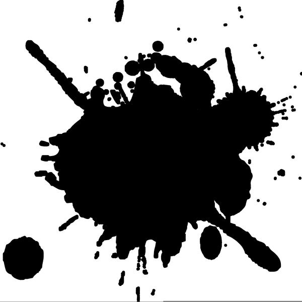 Free ink splash clipart. Splatter images at clker