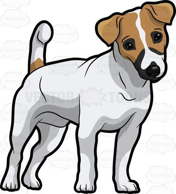 Free jack russell terrier clipart black and white
