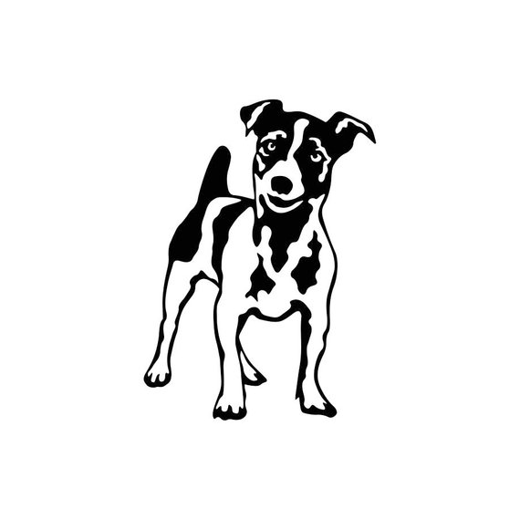 Free jack russell terrier clipart black and white clip stock Jack Russell Terrier Dog Graphics SVG Dxf EPS Png Cdr Ai Pdf Vector ... clip stock