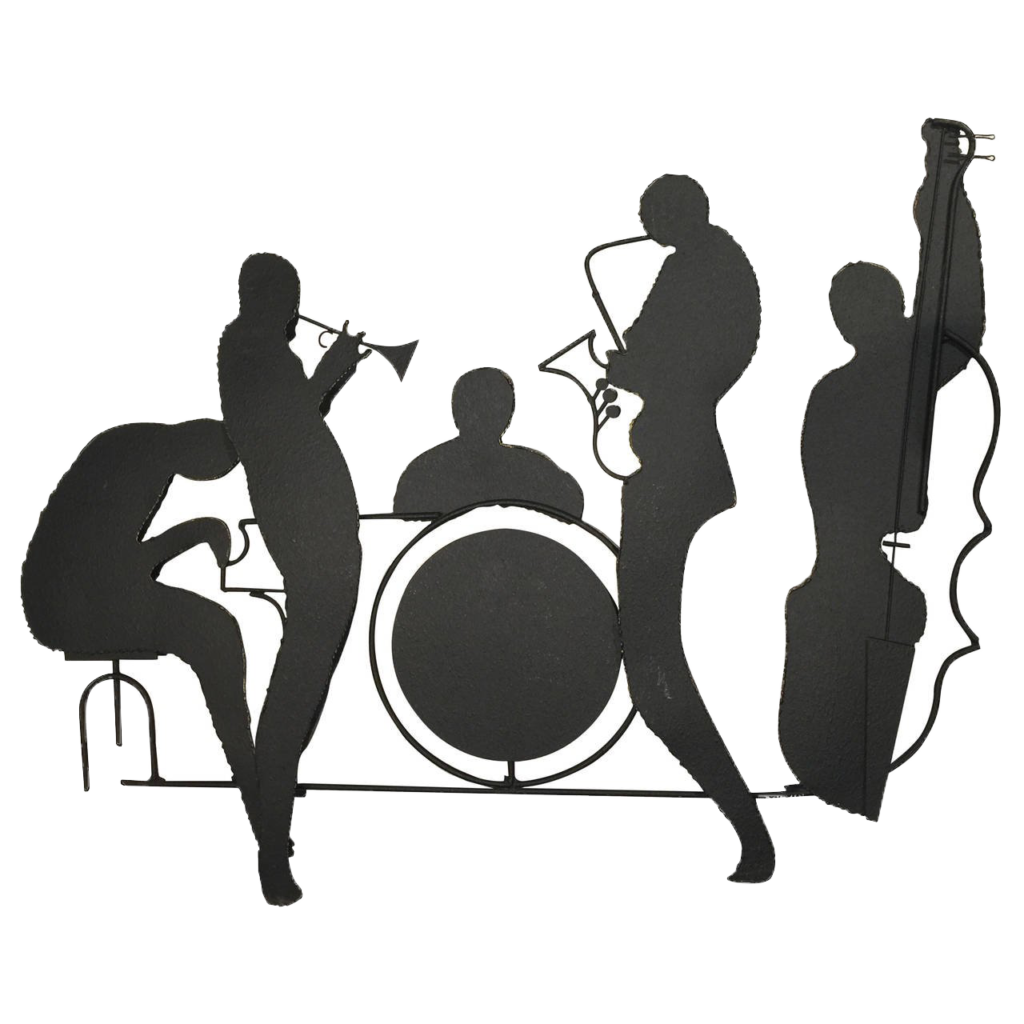 Free jazz big band clipart transparent background clip freeuse library Jazz band Musical ensemble Big band Musician - Silhouette png ... clip freeuse library