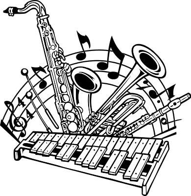 Clip art library . Free jazz big band clipart transparent background
