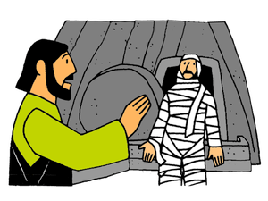 Jesus raised lazarus from the dead clipart image library stock Jesus Raises Lazarus – Mission Bible Class image library stock