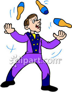 Circus royalty picture . Free juggler clipart