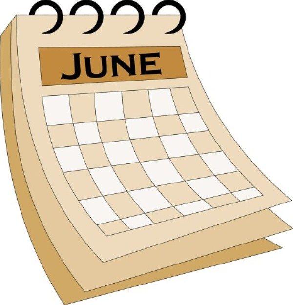 Free june calendar clipart. Pin by anjali kumari