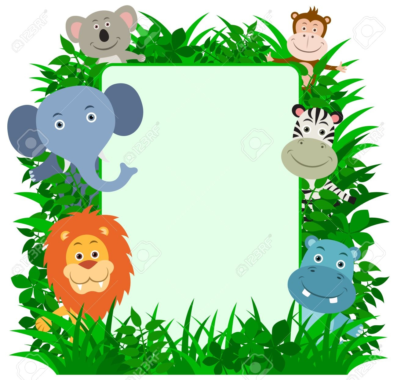 Free jungle clipart svg royalty free Jungle Border Clipart | Free download best Jungle Border Clipart on ... svg royalty free