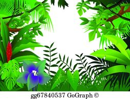 Jungle background clipart graphic library stock Jungle Clip Art - Royalty Free - GoGraph graphic library stock