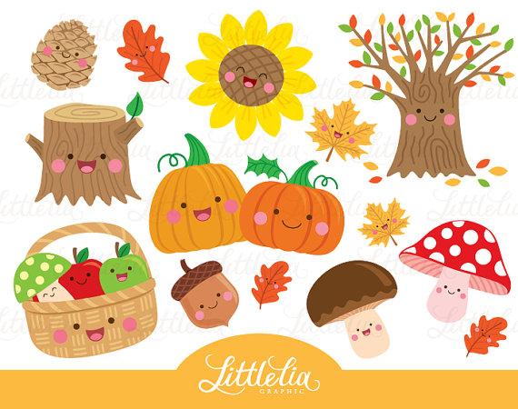 Autumn winter cozy clip. Free kawaii fall clipart