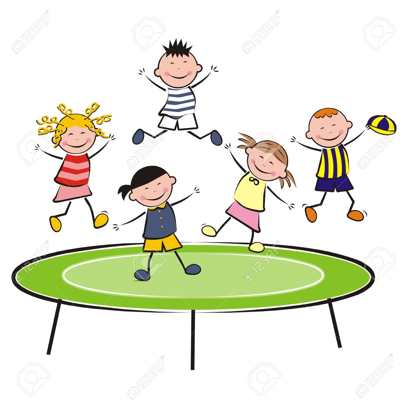 Clipart trampolinist banner black and white library Trampoline Clipart Black And White | Free download best Trampoline ... banner black and white library