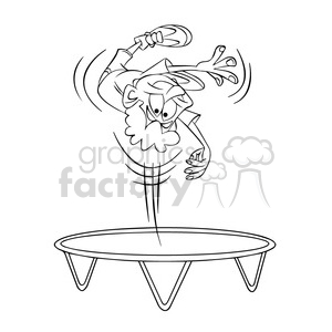 Free kids jumping on tramp and white clipart graphic free stock kid jumping on a trampoline black and white clipart. Royalty-free clipart #  395117 graphic free stock