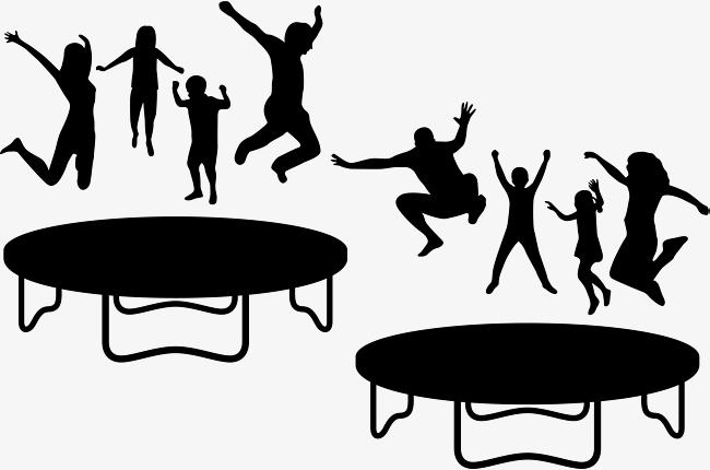 Free kids jumping on tramp and white clipart banner royalty free download People Jumping On Trampoline Free Png & Free People Jumping On ... banner royalty free download