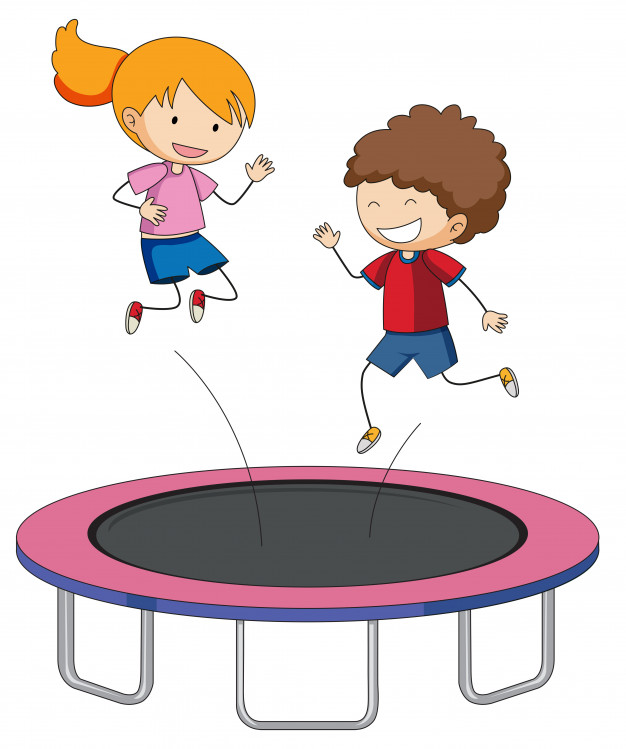 Free kids jumping on tramp and white clipart graphic freeuse library Children jumping on trampoline Vector   Free Download graphic freeuse library