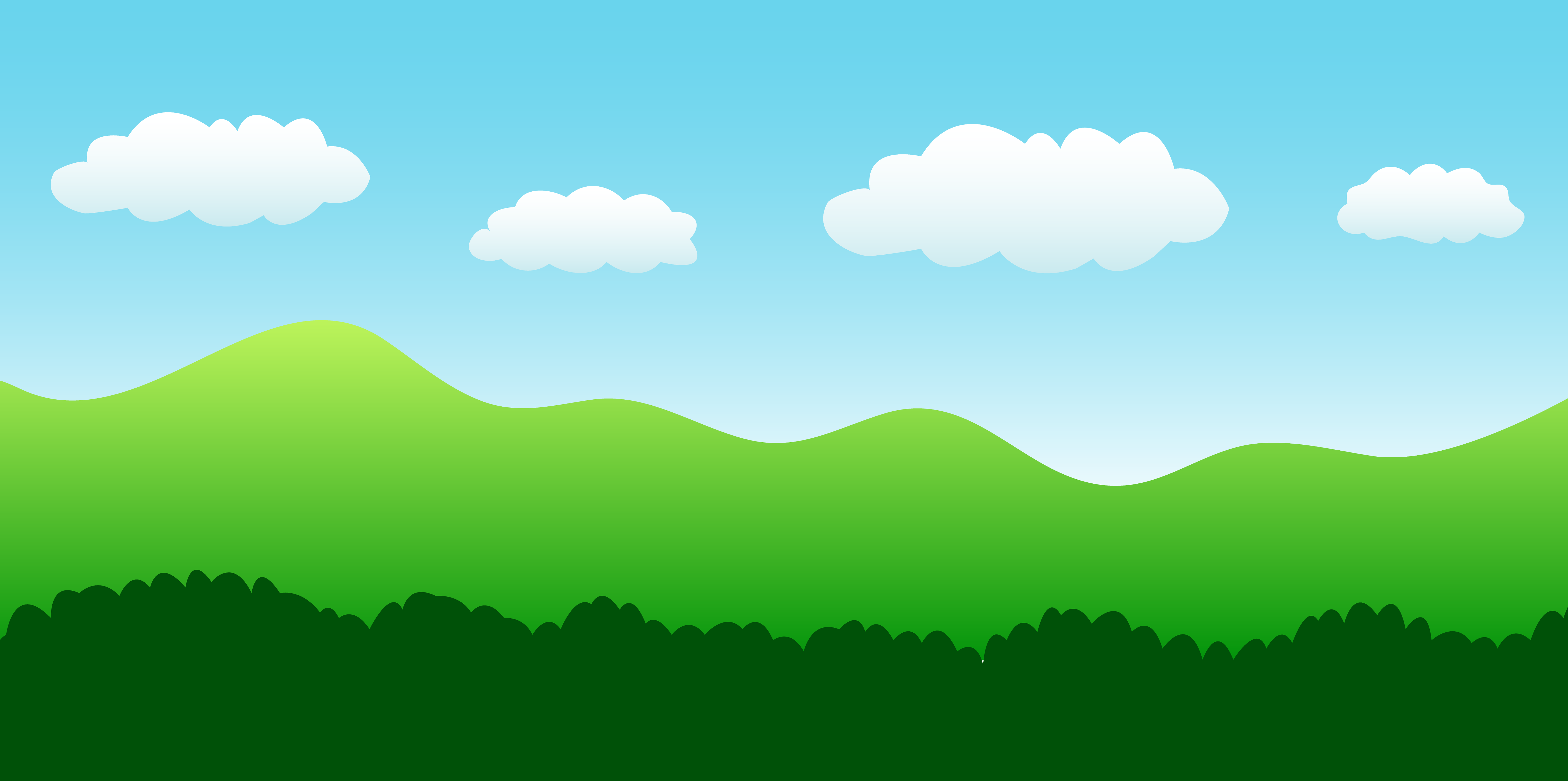 Landscape clipart clipart library stock Cartoon Landscape ClipArt free image clipart library stock