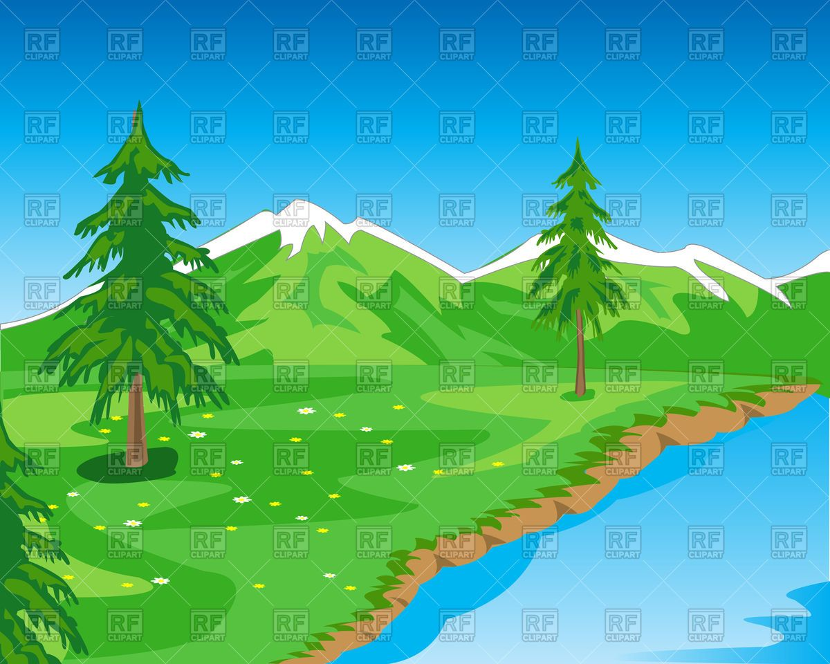 Free landscape clipart images clip free Beautiful mountain landscape with seashore Stock Vector Image | Free ... clip free