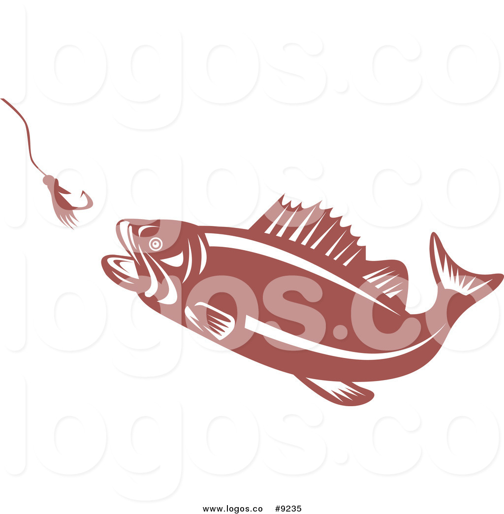 Free large mouth bass chasing a lure clipart. Royalty clip art vector
