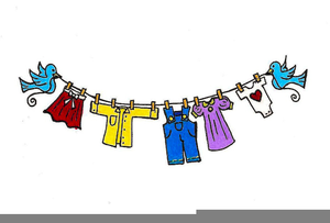 Free laundry clipart svg black and white stock Clothesline Laundry Clipart | Free Images at Clker.com - vector clip ... svg black and white stock