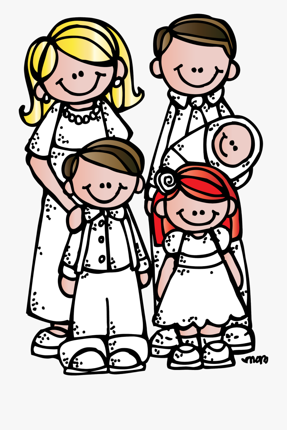 Free lds clipart family royalty free library Melonheadz School House Clipart Black And White - Lds Family Clipart ... royalty free library