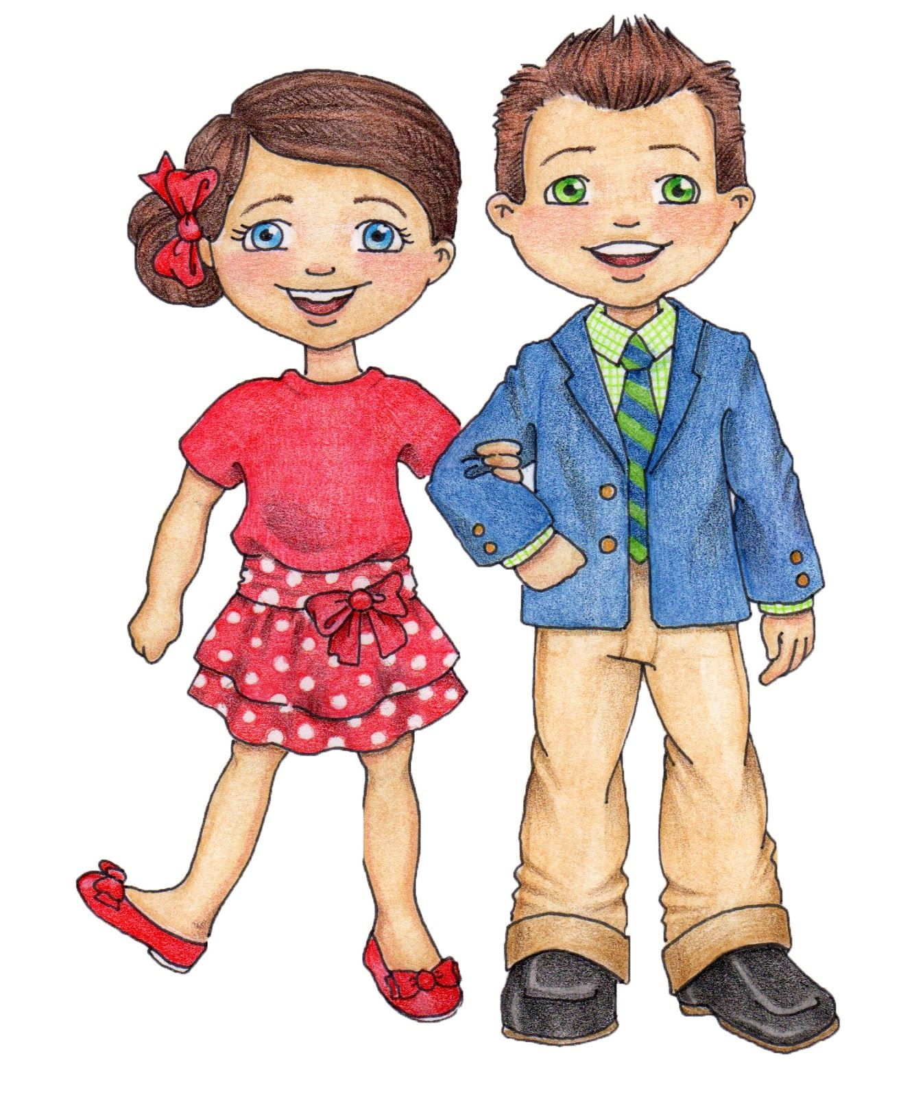 Clip art susan fitch. Free lds primary boy and girl color clipart