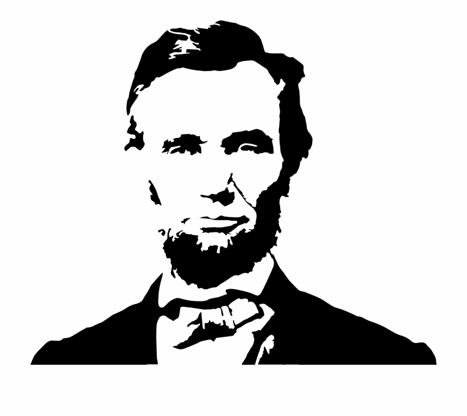 Free lincoln clipart black and white stock Abraham Lincoln Clipart Painting - Abraham Lincoln Vector Png Free ... black and white stock